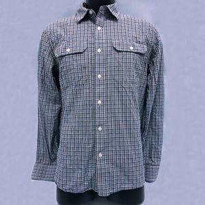 Michael Kors Mens Plaid Long Sleeve Shirt